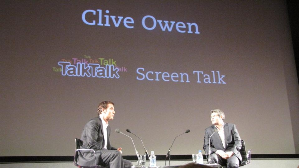 O retrospecto da carreira de Clive Owen foi comandado pelo jornalista Jason Solomons