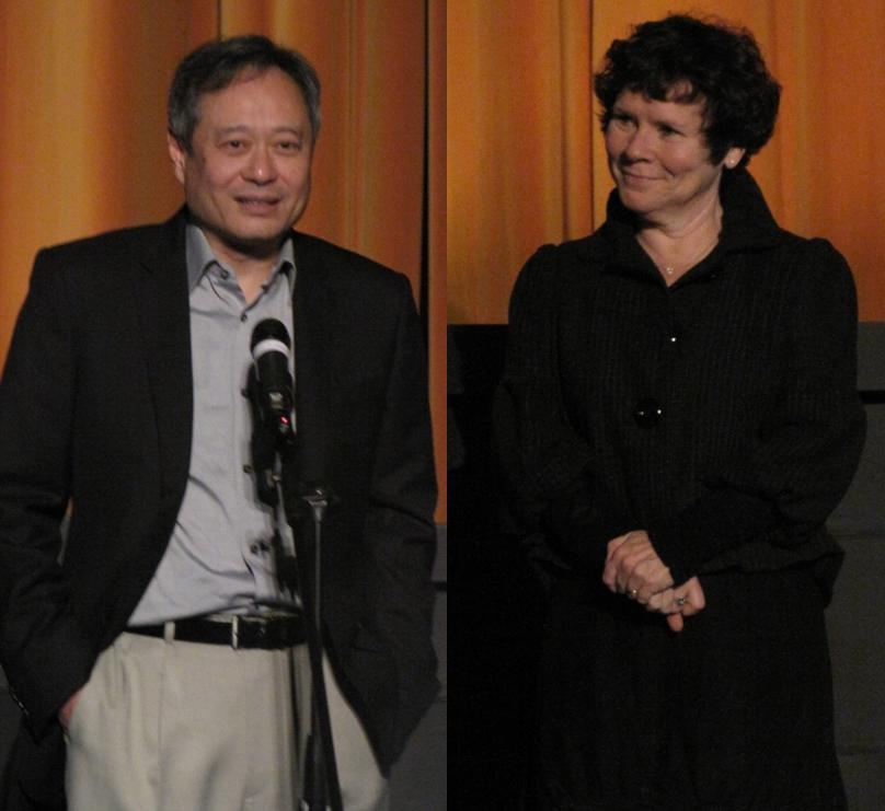 O diretor Ang Lee e a atriz Imelda Staunton: dupla das boas