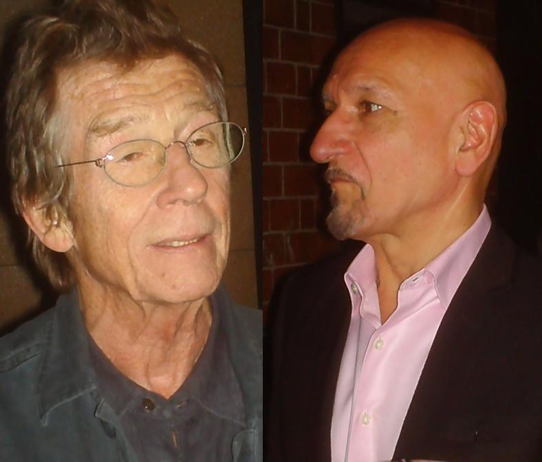 Tropeçando em dois cânones britânicos: John Hurt e Sir Ben Kingsley
