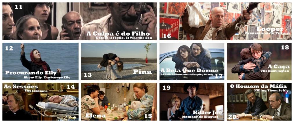 Top 11-20 Melhores Filmes de 2012