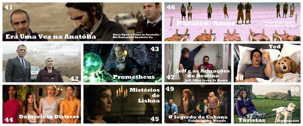 Top 41-50 - Melhores Filmes de 2012
