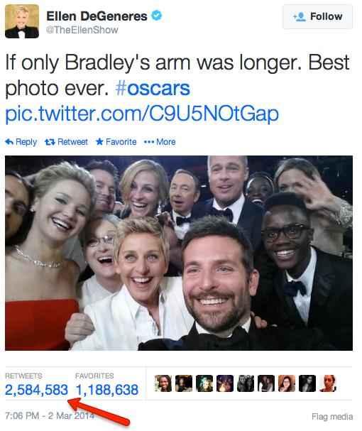 Ellen selfie Oscar